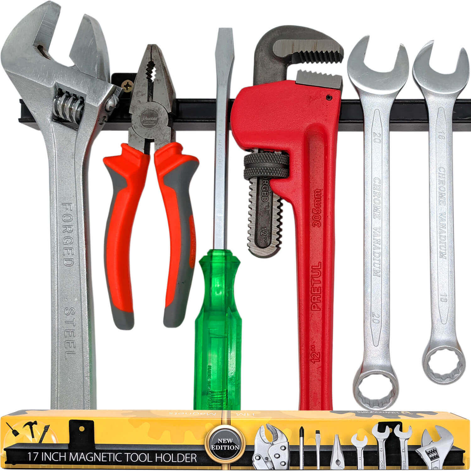 Magnetic Tool Holder Wall Mount Screwdriver Wrench Scissors Organizer Rack